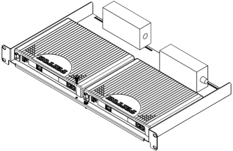 Mounting option – Connectors front