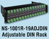 NS-1101R-19ADJDIN Adjustable DIN Rack