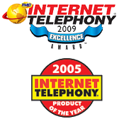 --Image: Internet Telephony 2005 Product of the Year & 2009 Excellence Award --