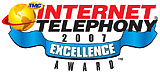 --Image: Internet Telephony 2007 Excellence Award  --