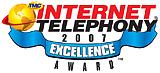 --Image: Internet Telephony 2007 Excellence Award --