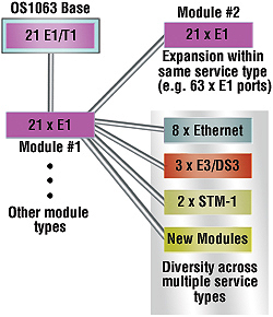 Model OS1063 expansion examples