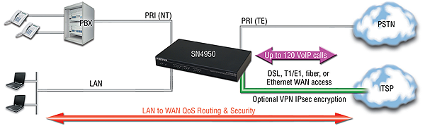 SmartNode 4950 application diagram