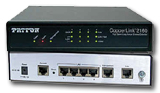 Photo shows CopperLink Model 2160 High-speed, Long-range Ethernt Extender