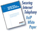 New VoIP Whitepaper - Securing Internet Telephony