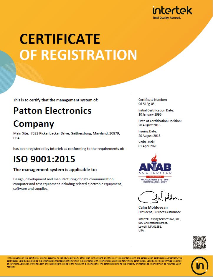 ISO9001 2015 Certificate