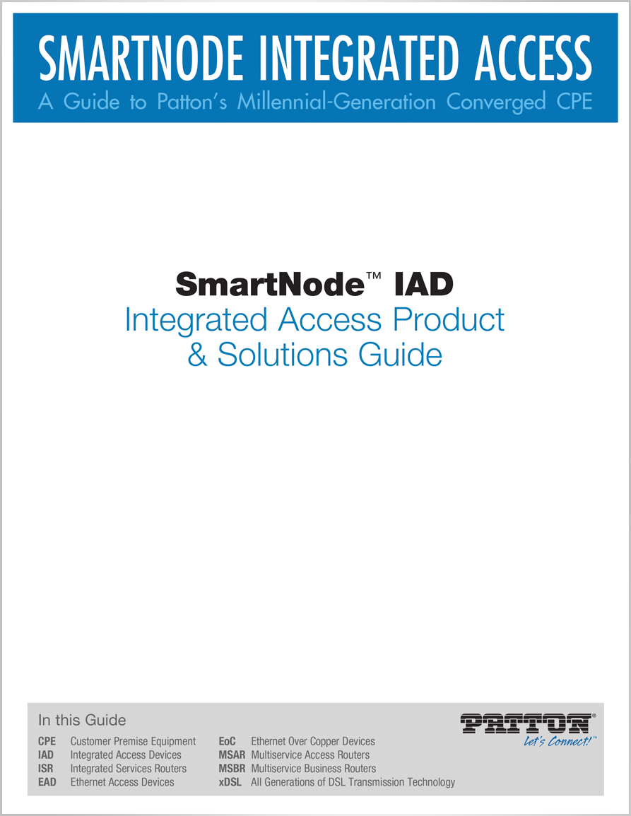 Patton Resources Space Heater Wiring Diagram Smartnode Iad Integrated Access Product Solutions Guide