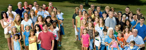 photo of extended Patton Family