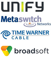 Partner Logos - Unify, TWC, BSFT, Metaswitch