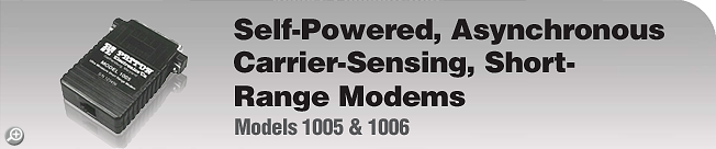 Model 1005 & 1006 This legacy product is EOL. For product replacement alternative, please see Patton's Model 1040 or 1080A.