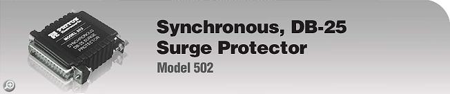 Model 502 Synchronous, DB-25, Surge Protector
