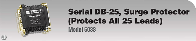 Model 503S Serial DB-25, Surge Protector (Protects All 25 Leads)