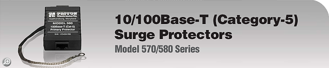 Model 570/580 Series 10/100Base-T (Category-5) Surge Protectors