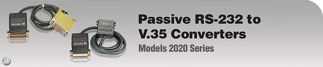 Model 2020 Series Passive RS-232 to V.35 Converters