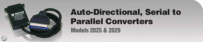 Model 2025 & 2029 Auto-Directional, Serial to Parallel Converters