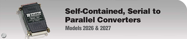 Model 2026 & 2027 Self-Contained, Serial to Parallel Converters