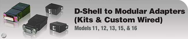 Model 11, 12, 13, 15, & 16 D-Shell to Modular Adapters (Kits & Custom Wired)