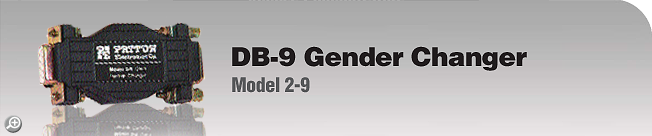 Model 2-9 DB-9 Gender Changer