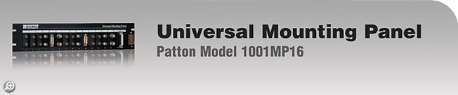 Model 1001MP16 16-Slot Universal Mounting Panel