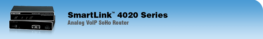 SmartLink 4020 Series VoIP Router Analog VoIP SoHo Router