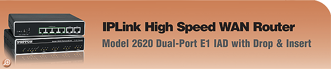 IPLink� Model 2620 High Speed, Dual-Port WAN Router with Drop & Insert