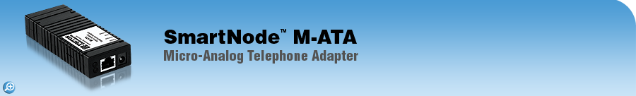 SmartNode M-ATA Micro-Sized Single-Port Analog Telephone Adapter (ATA)