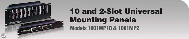 Model 1001MP10 & 1001MP2 10 and 2-Slot Universal Mounting Panels