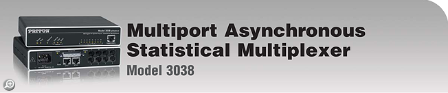 IpStatMux™ Model 3038 Managed Multiport RS-232 Asynchronous Statistical Multiplexer