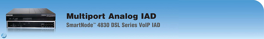 SmartNode 4830 Analog DSL VoIP IAD Analog DSL VoIP IAD | up to 8 FXS/FXO ports + G.S or ADSL WAN Router