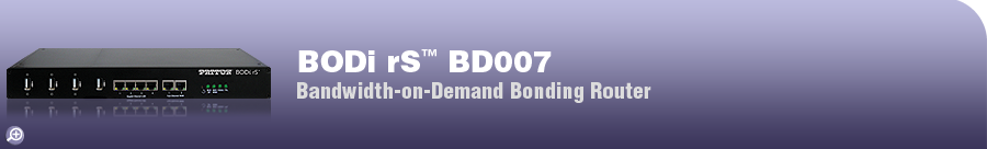 BODi rS� BD007 Internet Router This model is not currently in production. Please see our alternative product, the BODi rS BD004