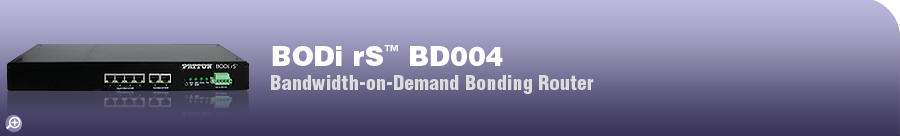 BODi rS� BD004 Internet Router Bandwidth-on-Demand Bonding Internet Router